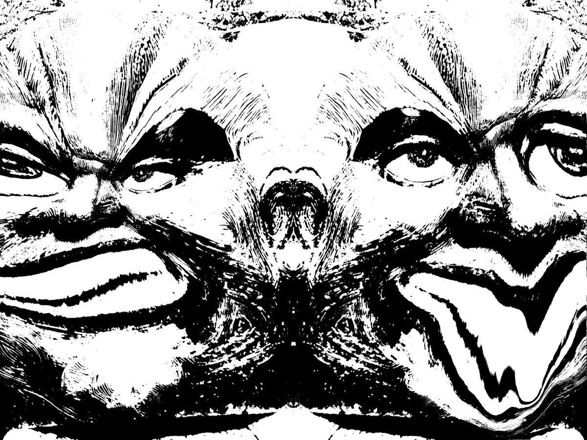 Meet My Monsters by Pankaj Mullick, Digital Digital Art, Digital Print on Enhanced Matt, Gray color