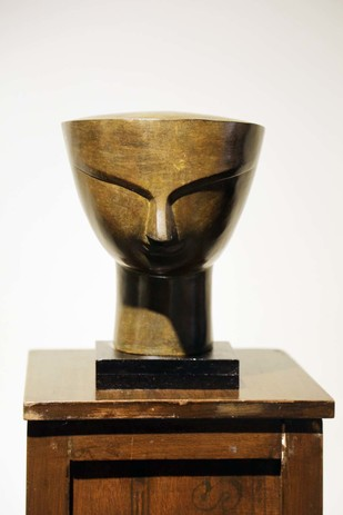 Devi by Bimal Kundu, Art Deco Sculpture | 3D, Bronze, Brown color