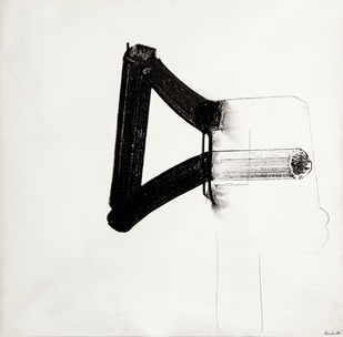 Untitled by Vanita Gupta, Minimalism Painting, Acrylic on Canvas, Gray color