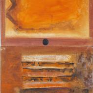 Vijay shinde untitled 48 x 24 acrylic on canvas 10589