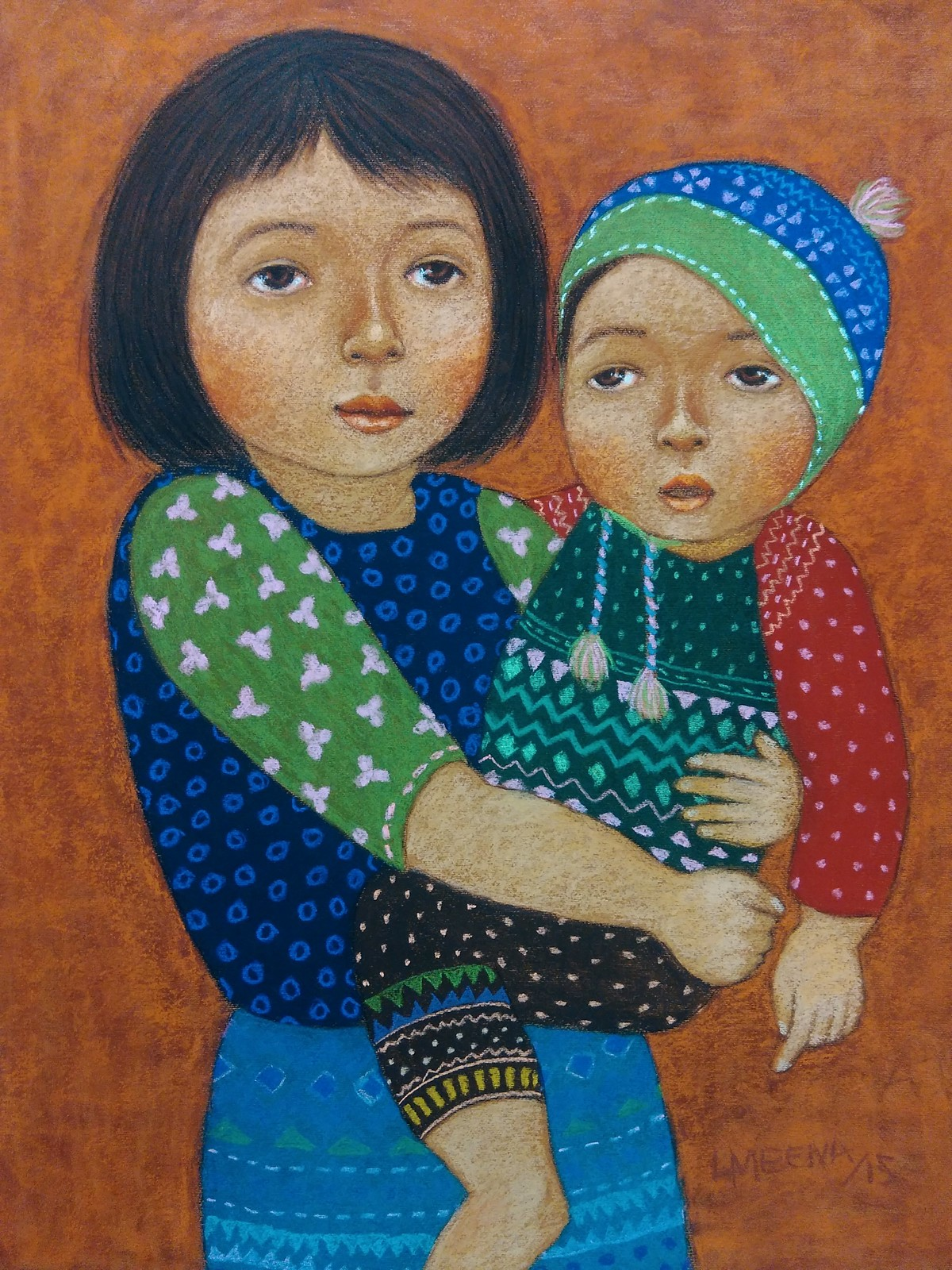 Me and my brother Digital Print by Meena Laishram,Traditional