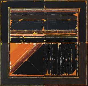 La Terre by S H Raza, Geometrical Serigraph, Serigraph on Paper, Brown color