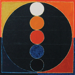 Bindu by S H Raza, Geometrical Serigraph, Serigraph on Paper, Gray color