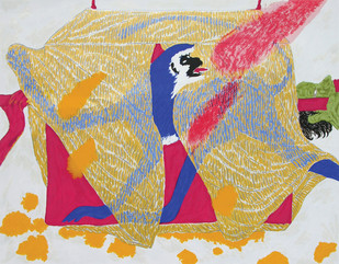 Royal Palanquin by Amit Ambalal, Expressionism Serigraph, Serigraph on Paper, Beige color