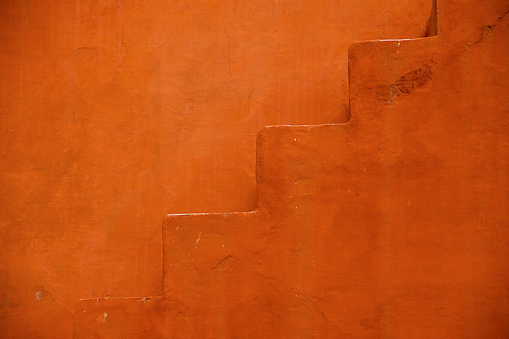 A Step in Time by Sanjay Nanda, Image Photograph, Digital Print on Canvas, Orange color