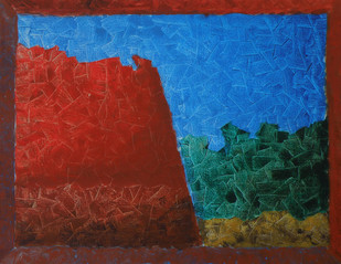 Fractal Dimensions . Harmony by Jaikishan Tada, Abstract Painting, Acrylic on Canvas, Brown color