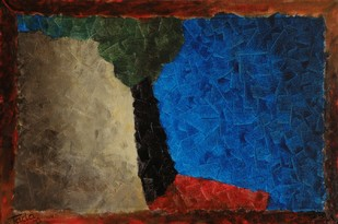Fractal Dimensions . The Recline by Jaikishan Tada, Abstract Painting, Acrylic on Canvas, Brown color