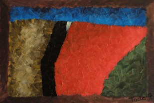 Fractal Dimensions . Aperture by Jaikishan Tada, Abstract Painting, Acrylic on Canvas, Brown color