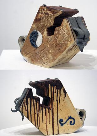 Urban Ghetto by Srinia Chowdhury, Art Deco Sculpture | 3D, Ceramic, Gray color