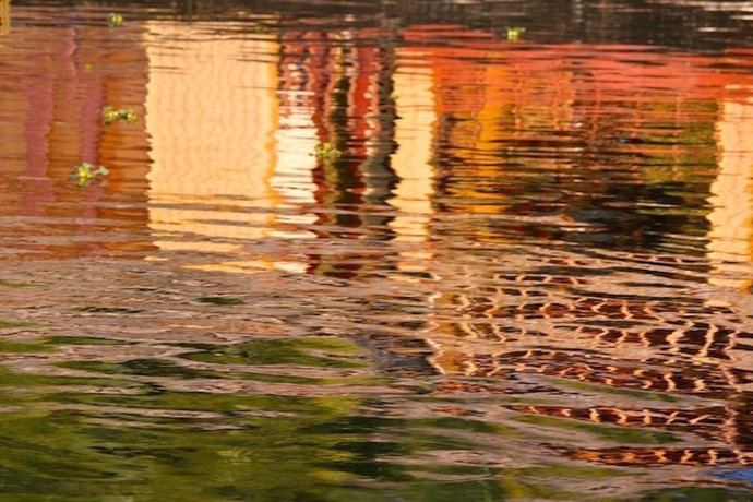 Waterline 2 by Saba Hasan, Image Photograph, Digital Print on Archival Paper, Brown color