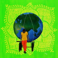Chhattisgarh Diaries - Earth stories by Tushar Waghela, Pop Art Painting, Oil & Acrylic on Canvas, Green color