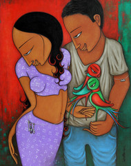 Couple Digital Print by Hitendra Singh Bhati,Decorative