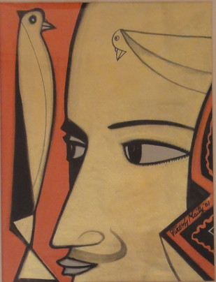 Untitled by Paresh Maity, Illustration Painting, Mixed Media on Paper, Brown color