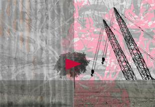 Play Of Destruction I by Ishita Adhikary , Digital Digital Art, Digital Print on Enhanced Matt, Gray color