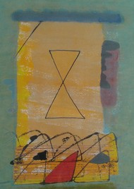 Untitled IV by Harsha Vardhana S, Abstract Painting, Mixed Media on Paper, Brown color