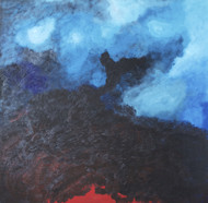 The Volcano Within Digital Print by Mona Vayda,Abstract