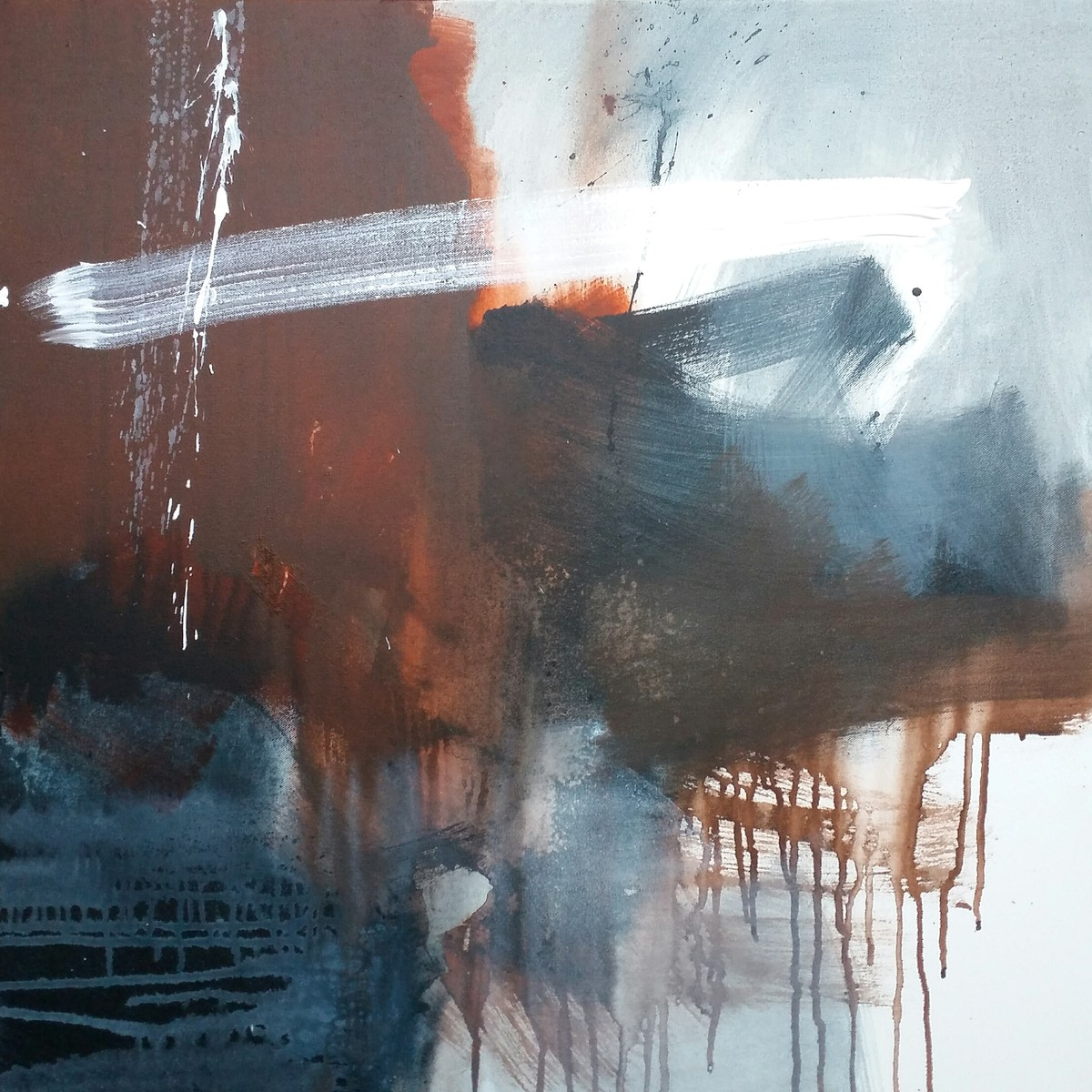 Immortality by Gulrez Ali, Abstract Painting, Acrylic on Canvas, Brown color