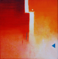 Involution by Ganpat N Bhadke, Abstract Painting, Acrylic on Canvas, Red color