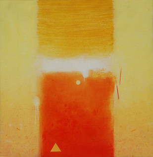 Involution by Ganpat N Bhadke, Abstract Painting, Acrylic on Canvas, Beige color
