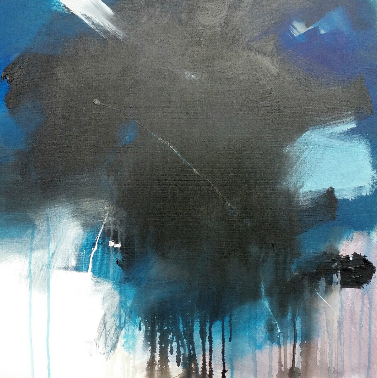 Immortality by Gulrez Ali, Abstract Painting, Acrylic on Canvas, Gray color