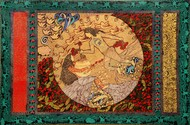 Golden Womb 2 by Seema Kohli, Traditional Painting, Acrylic & Ink on Canvas,