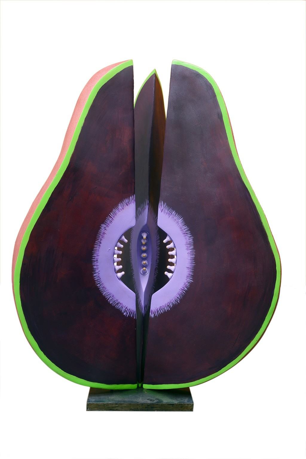 Purple Cosmic Seed by Kristine Michael, Pop Art Sculpture, Fiber Glass, White color