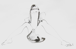 LIFE SERIES 1 by Sukanta Chowdhury, Illustration Drawing, Ink on Paper, Gray color