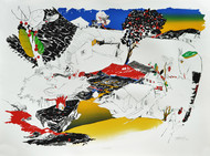 Breakfast by Nabibaksh Mansoori, Impressionism Serigraph, Serigraph on Paper, Gray color