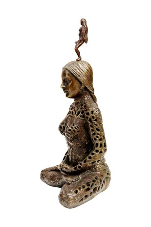 Kundalini by Seema Kohli, Decorative Sculpture | 3D, Bronze, White color