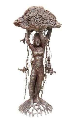 Tree of Life by Seema Kohli, Art Deco Sculpture | 3D, Bronze, White color