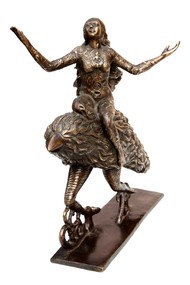 Vaishnavi by Seema Kohli, Art Deco Sculpture | 3D, Bronze, White color