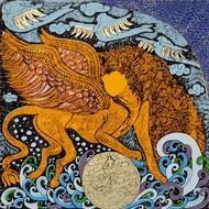 Yogini 2 by Seema Kohli, Traditional Serigraph, Serigraph on Paper, Brown color