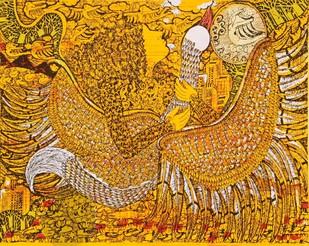 Yogini 4 by Seema Kohli, Traditional Serigraph, Serigraph on Paper, Brown color