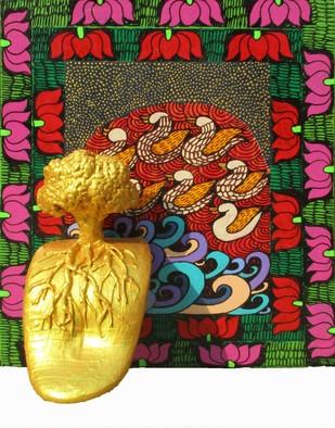 Yogini 7 by Seema Kohli, Traditional Painting, Mixed Media, Brown color