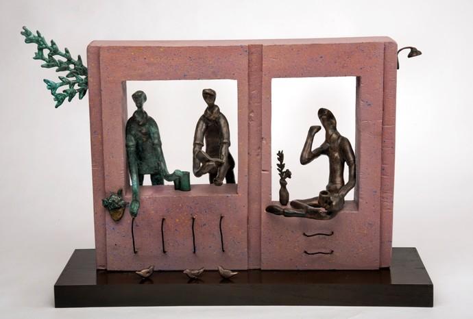 Simple Pleasure (Pink) by Manjari Goenka, Art Deco Sculpture | 3D, Bronze, Brown color