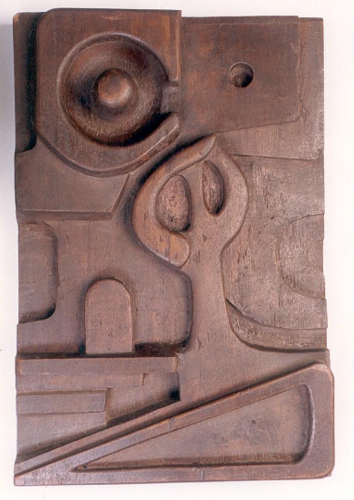 Sadhana by Manjari Goenka, Art Deco Sculpture   3D, Wood, Brown color