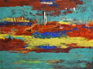 Tranquility by Shreya Shailee, Abstract Painting, Acrylic on Board, Brown color