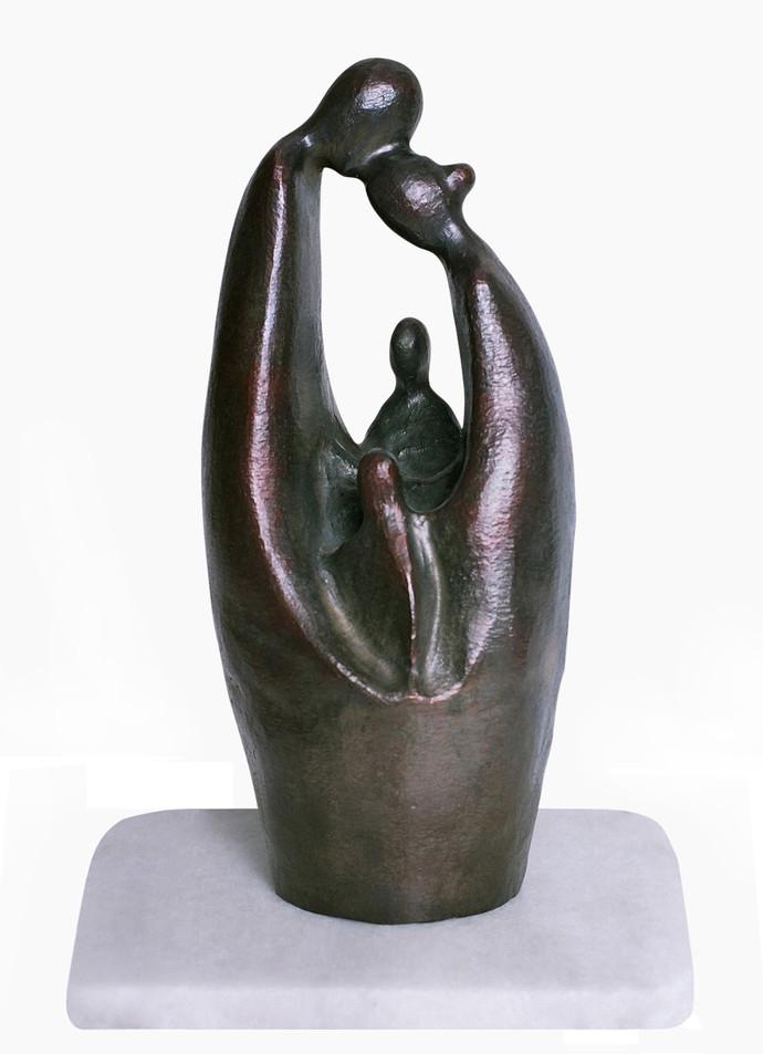 Togetherness by Manjari Goenka, Art Deco Sculpture   3D, Bronze, Gray color