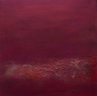Untitled by Goutam Mukherjee, Abstract Painting, Acrylic on Canvas, Brown color