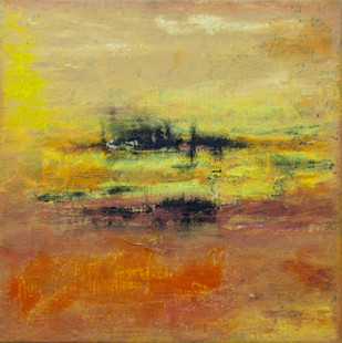 Untitled by Goutam Mukherjee, Abstract Painting, Mixed Media on Canvas, Brown color