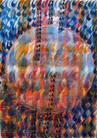 Seeking Light by Aiyana Gunjan, Abstract Painting, Watercolor on Paper, Brown color