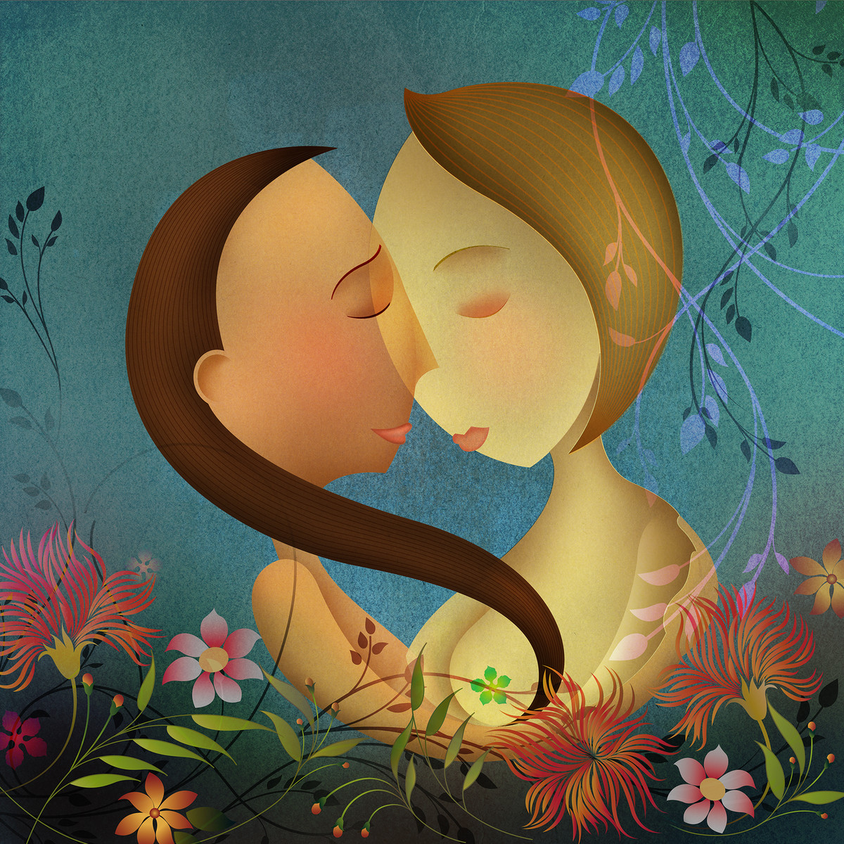 Untitled by Suvarna Sohoni, Digital Digital Art, Digital Print on Canvas, Green color