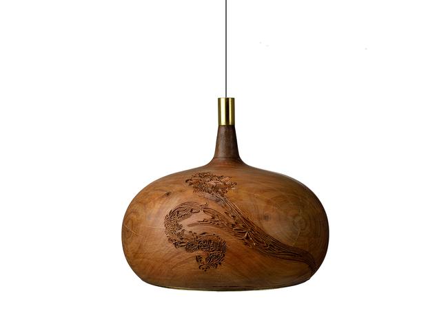 Chappa & Chippa Hanging lamp small Artifact By Arpan Patel for Studio Kassa