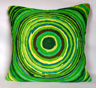 Katran Cushion : Green Cushion Cover By Sahil & Sarthak