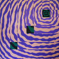Impetus IV by Srushti Rao, Geometrical Painting, Acrylic on Canvas, Purple color