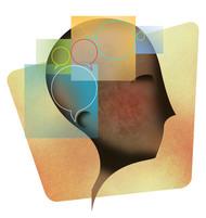 Mindgames by Suvarna Sohoni, Digital Digital Art, Digital Print on Canvas, Beige color