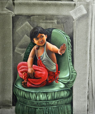 Little Queen Digital Print by Amarendra Maharana ,Pop Art