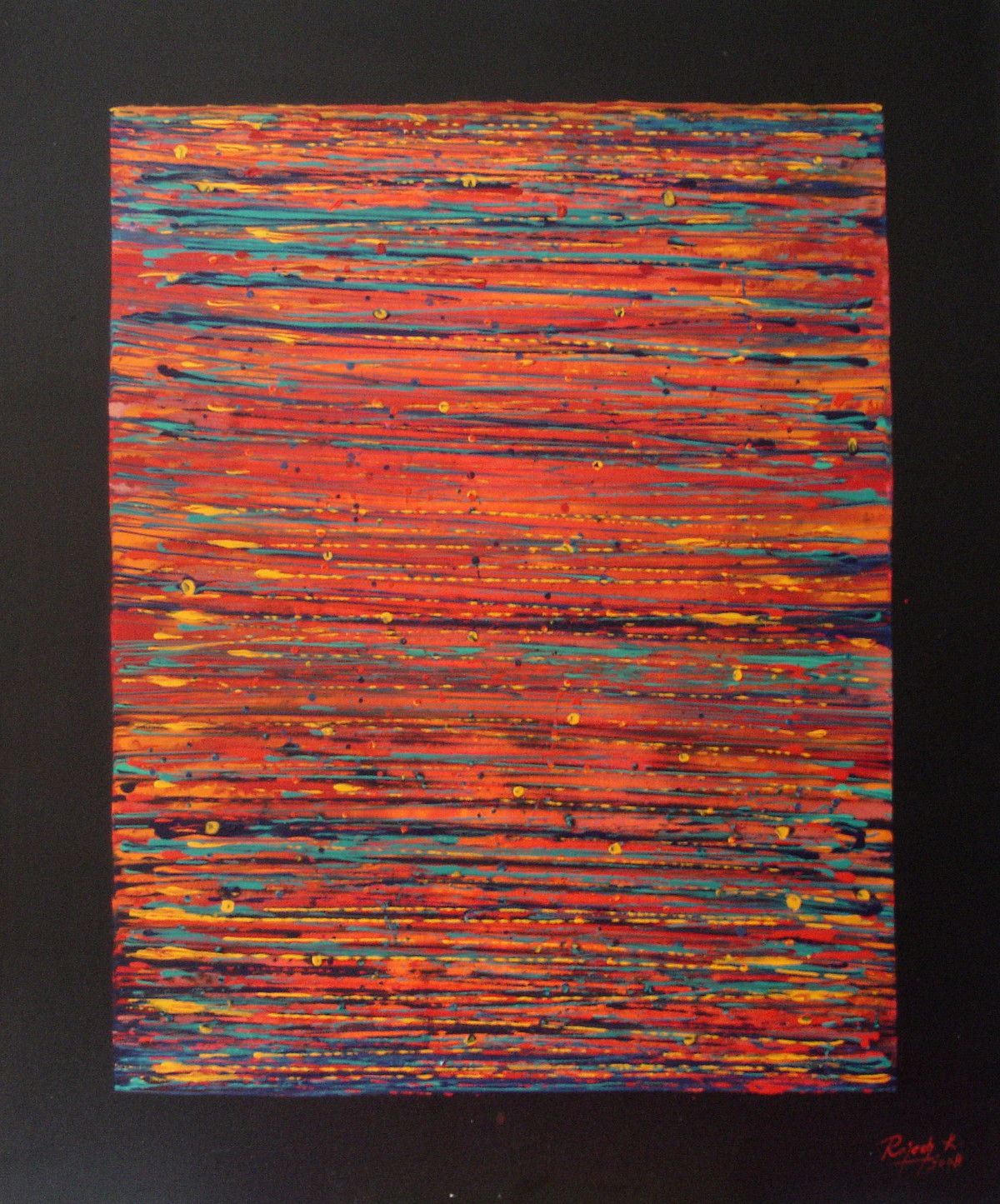 Perception by Rajesh K .Baderia, Abstract Painting, Acrylic on Canvas, Brown color