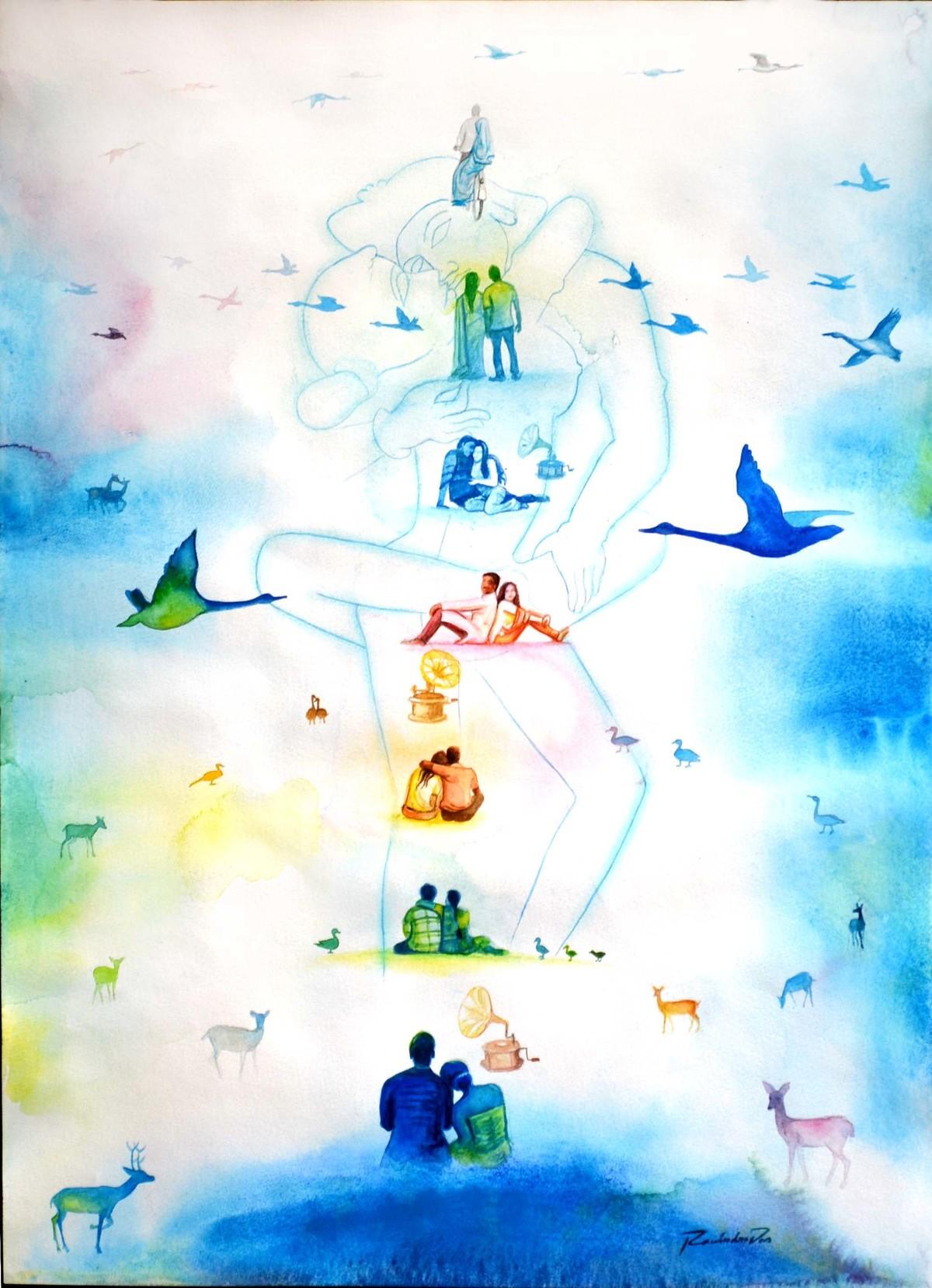 Love Dont Change 2 Digital Print by rawindra kumar das,Fantasy
