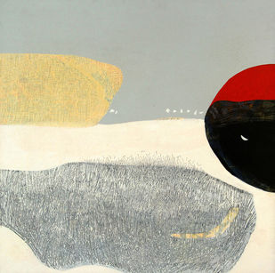Untitled by Neeraj Yadava, Minimalism Painting, Acrylic on Canvas, Beige color